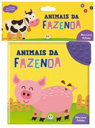 Livro de Pano com Mordedor - Animais da Fazenda