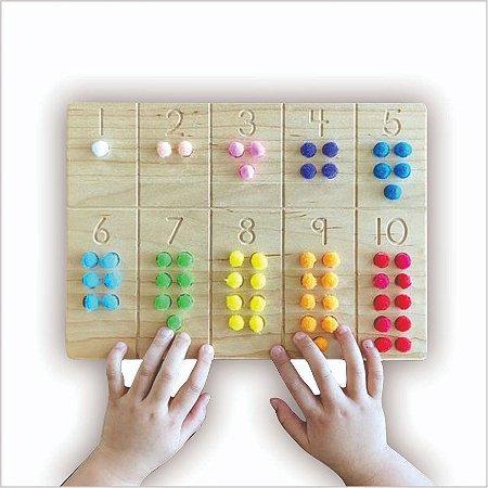 Meu primeiro Tabuleiro Montessori de Contagem - 1 a 10