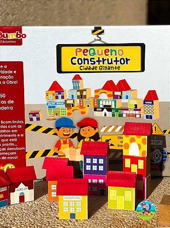 Blocos de Madeira Pequeno Construtor Cidade Gigante - 50 peças
