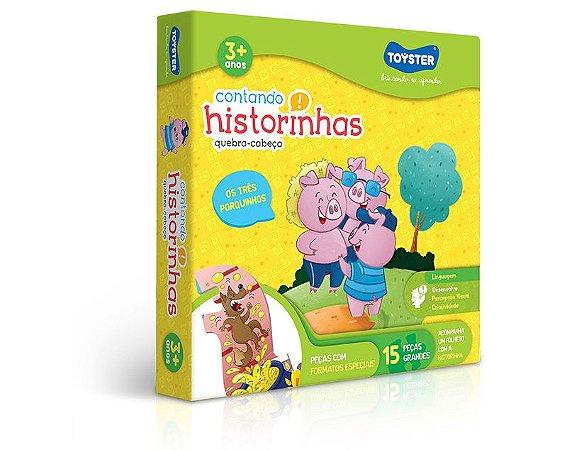 Quebra Cabeça Progressivo Contando Historinhas 3 Porquinhos