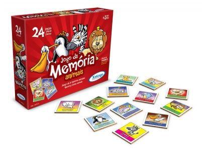 Jogo da Memória - Animais - 24 peças