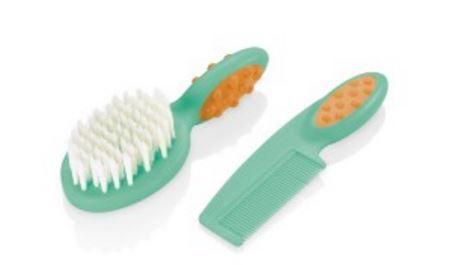 Pente e escova para cabelo Soft Touch - VERDE