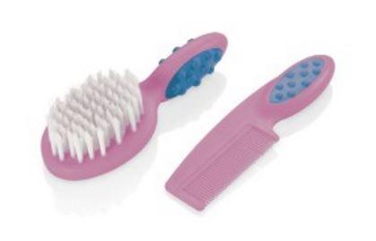 Pente e escova para cabelo Soft Touch - ROSA