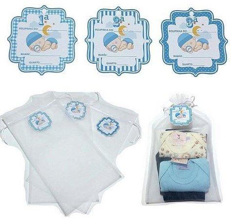 Kit com 3 saquinhos de maternidade - AZUL