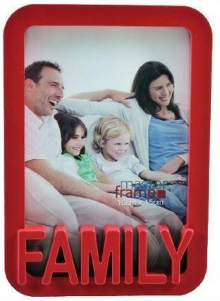 Porta Retrato 10 x 15cm Family - Vermelho