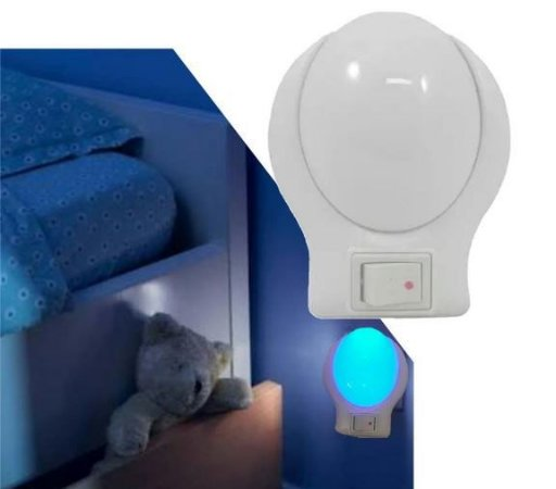 Luminária de parede - Oval - Luz AZUL