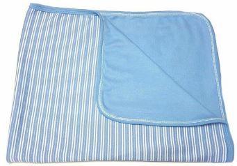 Manta em Suedine - Listras Azul