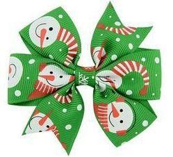 Laço - Natal Verde Boneco de Neve