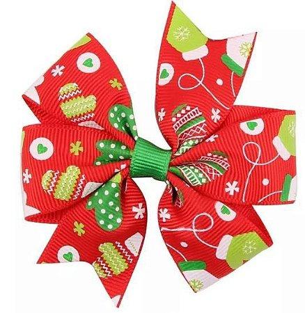 Laço - Natal Vermelho Luvinhas