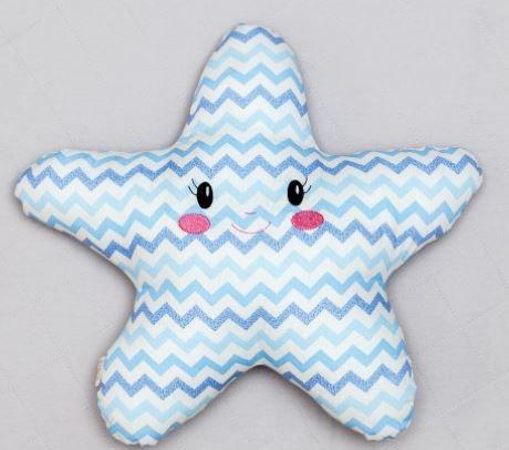 Almofada Luminosa - Estrela Chevron Azul
