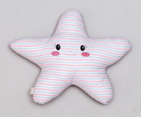 Almofada Luminosa - Estrela Listras Rosa