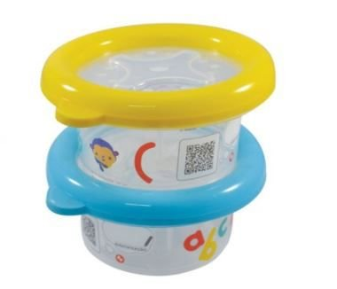 Conjunto com 2 potes de 200ml - FISHER PRICE