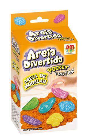 Areia de Modelar - Areia Divertida - Pocket Frutas