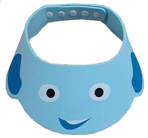 Chapéu de banho para bebê - Azul