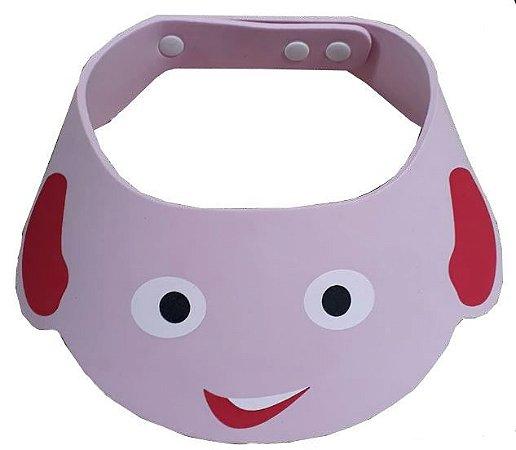 Chapéu de banho para bebê - Rosa