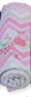 Cobertor soft para bebê  - Chevron Rosa