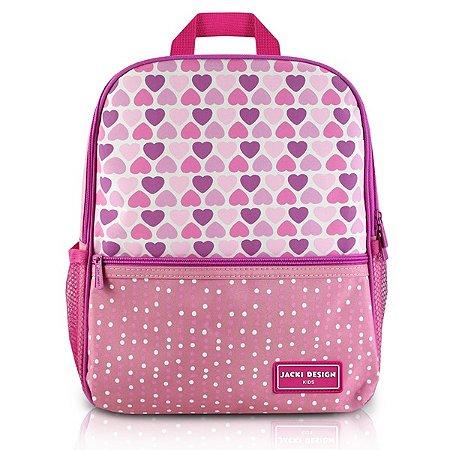 Mochila Escolar SAPEKA - Corações Rosa