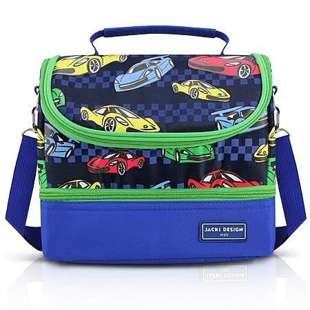 Lancheira Térmica c/ 2 Compartimentos - Carro SAPEKA - Azul