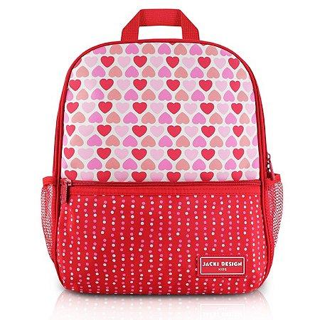 Mochila Escolar - Coração Vermelho SAPEKA - Vermelho