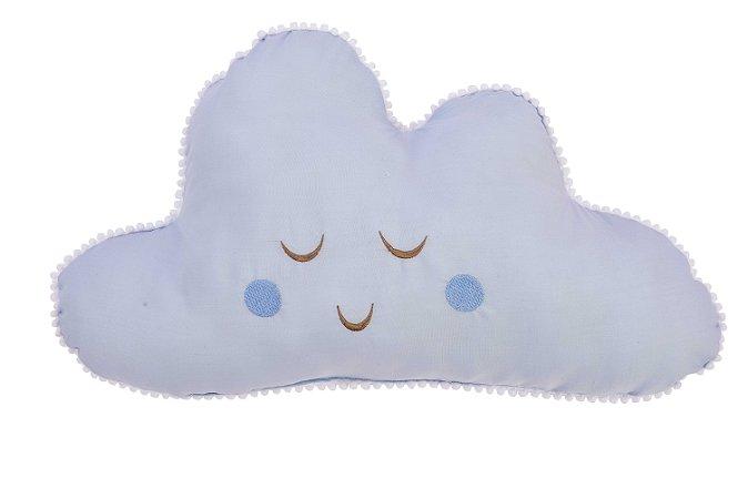 Almofada Nuvem Bordada - Azul