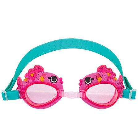 Óculos de natação divertido - PEIXE ROSA