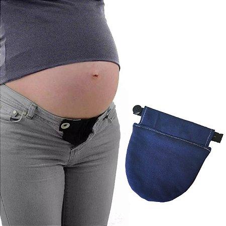 Extensor de calça para gestante - Marinho
