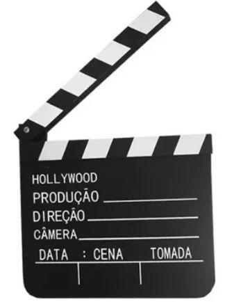 Claquete de Madeira - Plaquinha Cinema