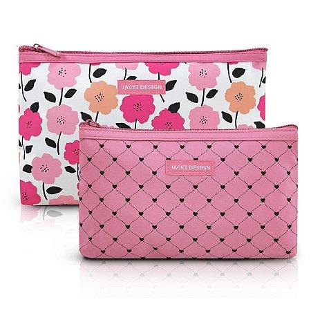 Kit de Necessaire de 2 Peças - PINK LOVER - Rosa