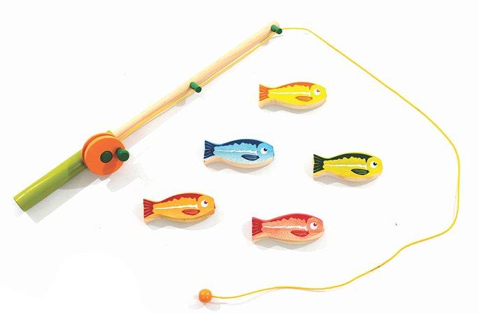 Kit Pescaria de Brinquedo em Madeira