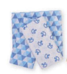Kit Cueiro 50 x 80cm - Muito Mimo Azul (kit com 3 unidades)