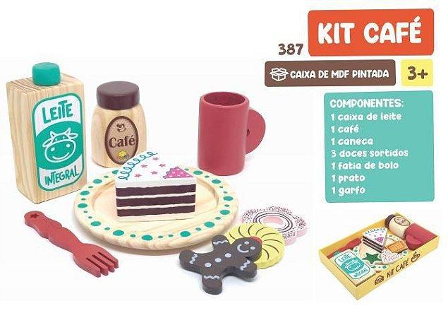 Kit Café em Madeira - 10 peças