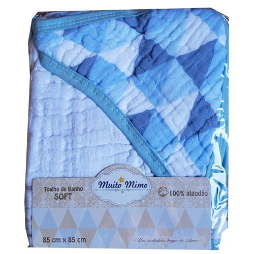 Toalha de Banho com Capuz Swaddle  - Muito Mimo Azul