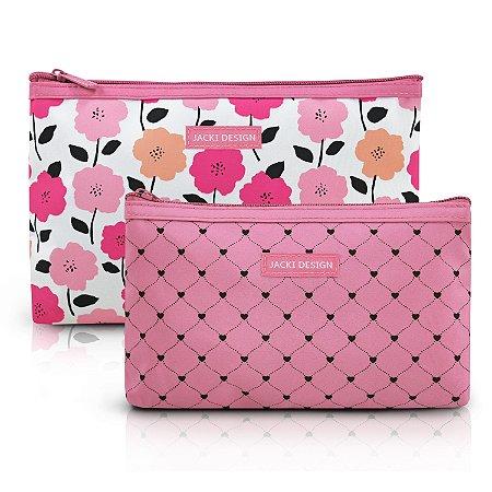 Kit de Necessaire de 2 Peças PINK LOVER - Rosa