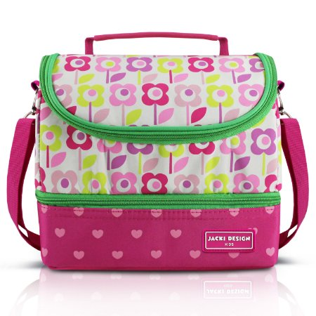 Lancheira Térmica com 2 Compartimentos - Flor Pink SAPEKA - Pink