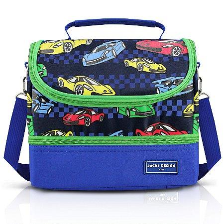 Lancheira Térmica com 2 Compartimentos - Carro SAPEKA - Azul