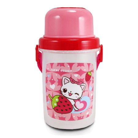 Squeeze 450ml Infantil Gato FILHOTINHOS - Pink