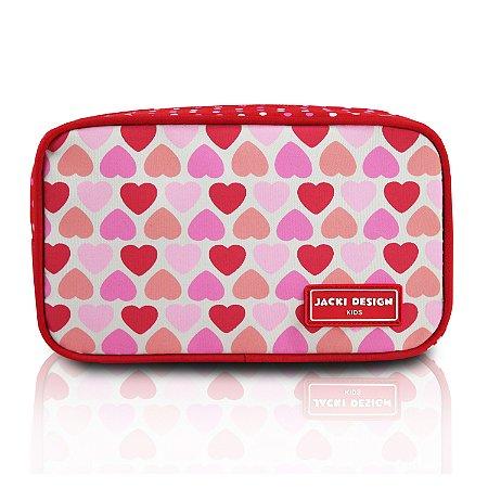 Necessaire/Estojo - Coração Vermelho SAPEKA - Vermelho