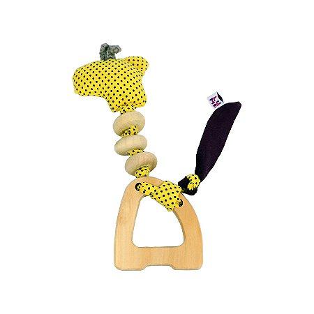 Brinquedo Sensorial de Madeira - Girafa