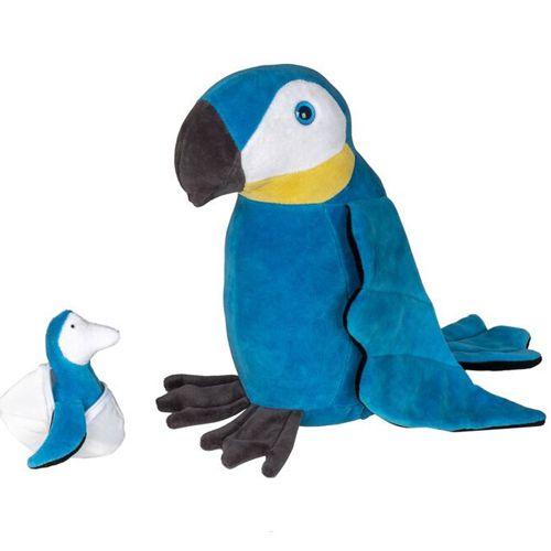 Arara Azul com 1 Filhote