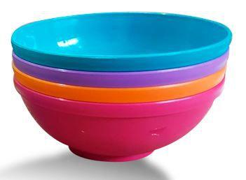 Kit de 4 tigelas bowls 300ml para alimentação do bebê - Rosa