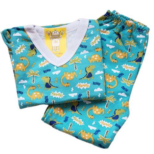 Pijama Infantil Flanelado - 1 ao 3 - Dinossauros