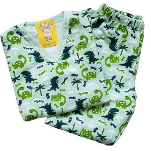Pijama Infantil Flanelado - 4 ao 8 - Dinos