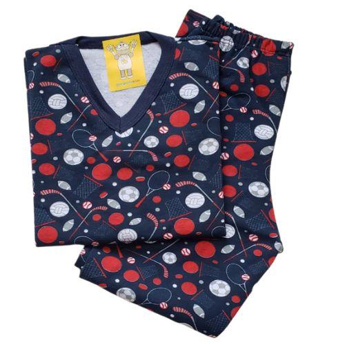 Pijama Infantil Flanelado - 4 ao 8 - Balls