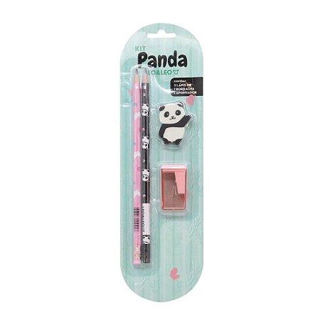 Kit Escolar Infantil - 4 peças - Panda