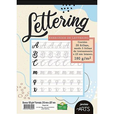 Caderno de Exercícios de Lettering - 28 Folhas