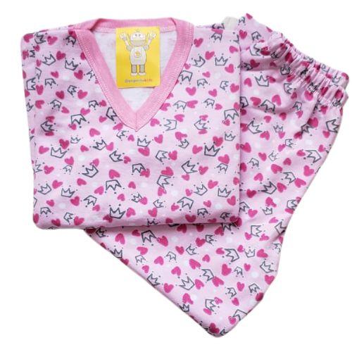 Pijama Infantil Flanelado - 1 ao 3 - Coroas