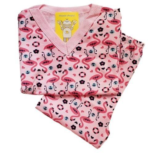 Pijama Infantil Flanelado - 1 ao 3 - Flamingos