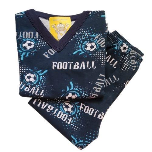 Pijama Infantil Flanelado - 4 ao 8 - Football