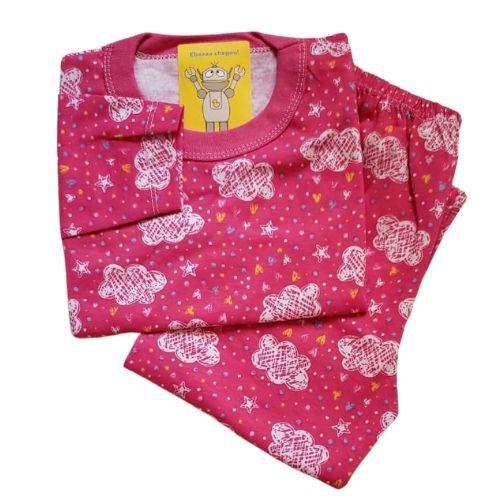 Pijama Infantil Malha 100% Algodão - 1 ao 3 - Chuva de Amor Pink