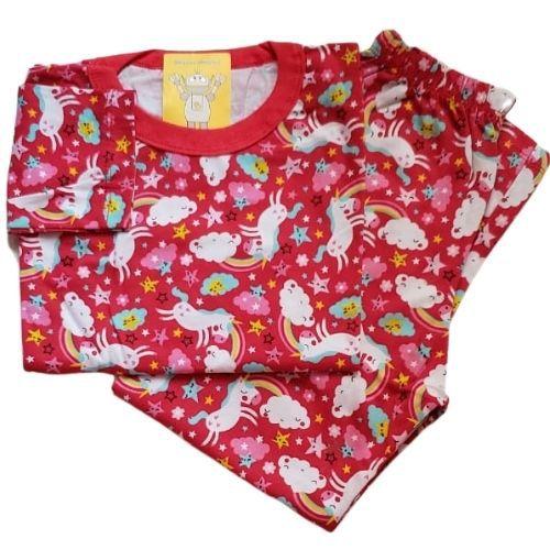 Pijama Infantil Malha 100% Algodão - 4 ao 8 - Unicórnio